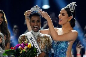 Zozibini Tunzi, of South Africa, is crowned Miss Universe by her predecessor, Catriona Gray of the Philippines, at the 2019 Miss Universe pageant at Tyler Perry Studios in Atlanta